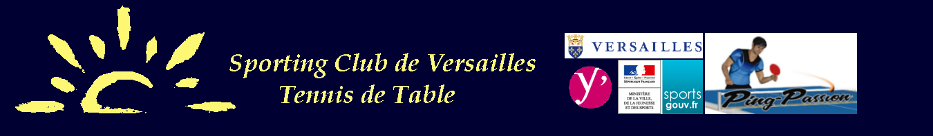 le site du Sporting Club de Versailles Tennis de Table